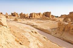Руины стародедовского города Jiaohe, Китая Стоковая Фотография RF
