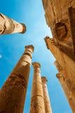 руины стародедовского nymphaeum Иордана jerash greco gerasa города римские стоковое изображение rf