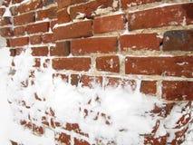 Руины стены в старом русском монастыре Стоковая Фотография RF