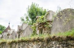 Руины стены замка, Словакии Стоковая Фотография RF