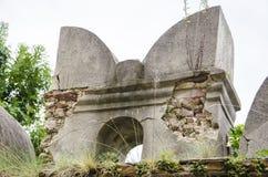Руины стены замка, Словакии Стоковое Фото