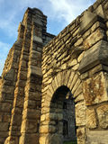 Руины стены захода солнца Стоковое Фото