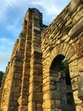 Руины стены захода солнца Стоковая Фотография RF