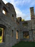 Руины стены захода солнца Стоковое Изображение RF