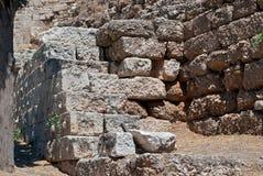 Руины стены. Стоковые Изображения