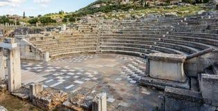 Руины театра в старом Messinia, Греции Стоковые Фотографии RF