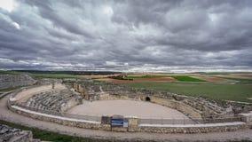 Руины театра Segobriga римские Стоковое фото RF