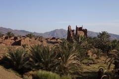 Руины традиционного Kasbah, Марокко Стоковые Изображения RF
