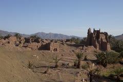 Руины традиционного Kasbah, Марокко Стоковое фото RF