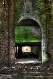 руины фабрики старые Стоковая Фотография RF