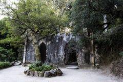 Руины фальшивки часовни дворца Monserrate Стоковые Фотографии RF