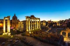 Руины форума Romanum на холме Capitolium Стоковое Изображение RF