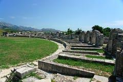 руины Хорватии amphitheatre Стоковые Фото