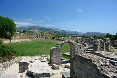 руины Хорватии amphitheatre стоковое фото