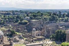 Руины холма Palatine Стоковые Изображения