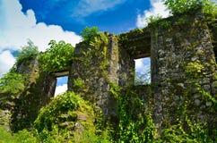 Руины церков в Филиппиныы стоковые изображения
