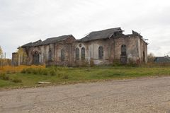 Руины церков рождества благословленной девственницы на Spassky Kokshengsky Pogost Стоковое Фото