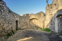 Руины церков святого духа & больницы, Szydlow, Польши стоковая фотография rf
