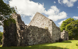 Руины церков Rya средневековые Стоковое фото RF