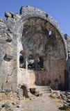 Руины церков St Nicholas, Турции Стоковые Изображения RF