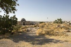 Руины цитадели Аммана Стоковая Фотография