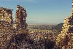 Руины цитадели Rasnov стоковое изображение rf