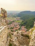Руины цитадели Rasnov, Brasov, Румыния стоковые фотографии rf