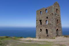 Руины шахты олова в Корнуолле, Великобритании стоковое фото rf