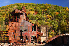 руины шахты старые стоковое изображение rf