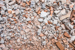 Руины щебня кирпича Стоковые Изображения RF