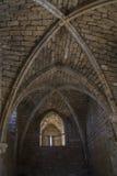 Руины эры крестоносцев в Caesarea Израиль Стоковые Фотографии RF