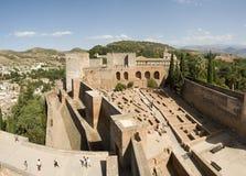 руины alhambra Стоковая Фотография