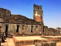 Руины Augustine в старом Goa, Индии Стоковые Изображения RF