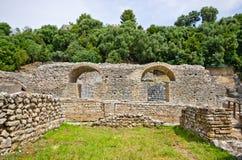 руины butrint Албании Стоковая Фотография RF