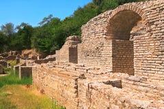 руины butrinti Албании Стоковая Фотография RF
