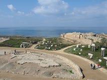 руины caesarea старые Стоковые Изображения