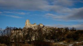 Руины catle Sirotci на холме Стоковое Изображение RF