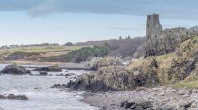 Руины Dunure Стоковые Изображения