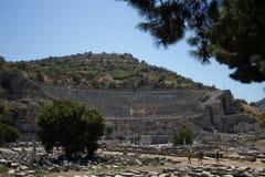Руины Ephesus - Турция август 2018 - стоковые изображения rf