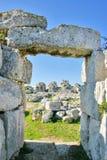 Руины Eurialo рокируют в Сиракузе - Сицилии стоковое изображение rf