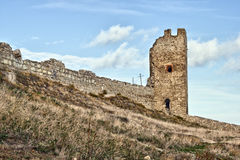 Руины Genoese крепости Стоковое фото RF