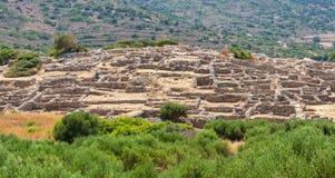 Руины Gournia. Крит, Греция стоковые изображения rf