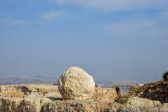 Руины Herodium или Herodion, крепости Herod большая стоковое фото rf