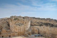 Руины Herodium или Herodion, крепости Herod большая стоковые фотографии rf
