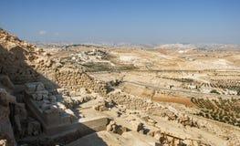 Руины Herodium или Herodion, крепости Herod большая стоковые изображения