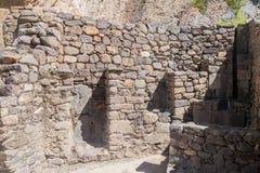 Руины Inca в Ollantaytambo стоковые изображения rf