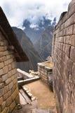 Руины Inca Machu Picchu в облаке Стоковые Изображения
