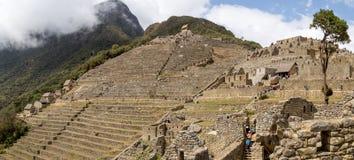 Руины Inca Machu Picchu Стоковые Фотографии RF