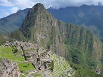 Руины inka picchu Machu священные Стоковое Изображение RF