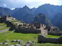 Руины inka picchu Machu священные Стоковые Изображения